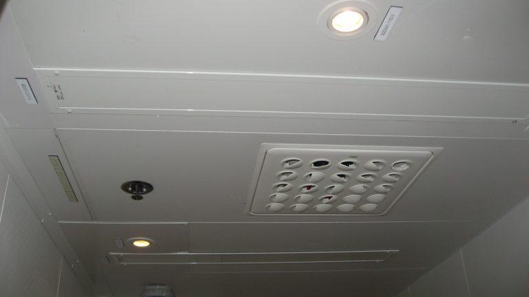 Statoil plattform, i lugarer. E-100 nedfelt med ramme plassert i taket. Lakkert i hvit.!