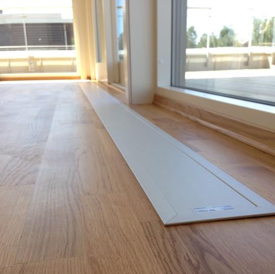 Leilighet Rolfsbukta, Fornebu. E-100 nedfelt med ramme. Farge eloksert aluminium (standard).!