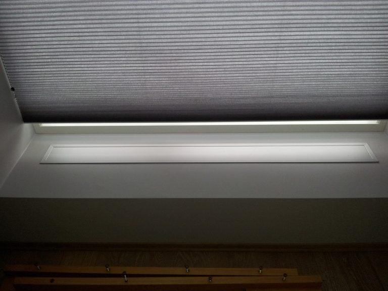 Varmelister enebolig Bærum. E-100 nedfelt med ramme. Farge eloksert aluminium (standard).!